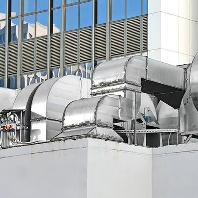 steel industrial air conditioning and ventilation systems outside